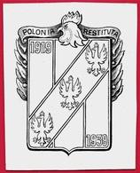 Encre Sur Carton POLONIA RESTITUTA 1919 1939 - Coq & Aigles (Pologne Poland Polska) - Non Classés