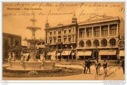 Montevideo Plaza Constitución Sello Stamp Timbre Uruguay ( 2 Scans ) - Uruguay