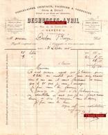 Document Du 21/09/1895 DESHUSSES-AVRIL Porcelaines, Articles D'éclairage - Genève Suisse - Switzerland