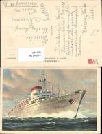 566197,Schiff Hochseeschiff Dampfer M/N Augustus Italia Societa Die Navigazione Genov - Krieg