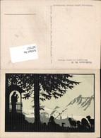 567557,Künstler AK Josefine Allmayer Scherenschnitt Silhouette Künstlerkarte 62 - Scherenschnitt - Silhouette