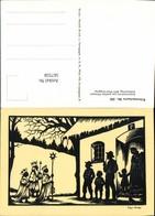 567558,Künstler AK Josefine Allmayer Hl. Drei Könige Scherenschnitt Silhouette Künstl - Scherenschnitt - Silhouette