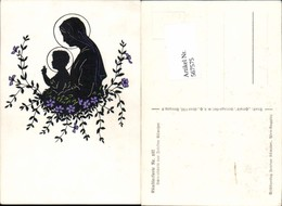 567575,Künstler AK Josefine Allmayer Scherenschnitt Silhouette Künstlerkarte 107 - Scherenschnitt - Silhouette