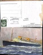 566214,Künstler Ak Schiff Hochseeschiff Dampfer Europa Norddeutscher Lloyd Bremen - Handel