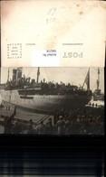 566218,Schiff Hochseeschiff Dampfer USA Am Anleger Männer Soldaten Am Kai - Handel