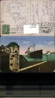 566228,Schiff Hochseeschiff Dampfer Cap Finisterre über Dem Elbtunnel Hamburg - Handel