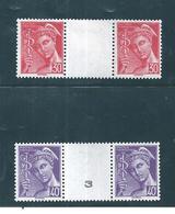 France Timbres De 1942  N°547/48  2 Inter Panneaux   Neuf ** - France
