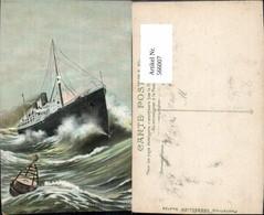 566007,Schiff Hochseeschiff Dampfer Transatlantique Sous L Assaut Des Vagues Sturm Ho - Handel