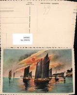 566041,Künstler Ak Marines Coucher De Soleil Sonnenuntergang Schiffe Segelschiffe - Segelboote