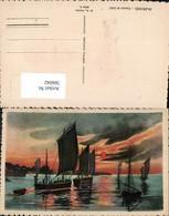 566042,Künstler Ak Marines Coucher De Soleil Sonnenuntergang Schiffe Segelschiffe - Segelboote