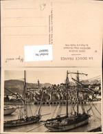 566047,Cote D Azur Menton Le Port Et La Vieille Ville Hafen Schiffe Segelschiffe - Segelboote