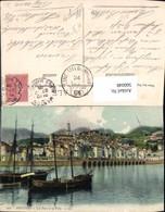 566048,Menton Le Port Et La Ville Hafen Schiffe Segelschiffe - Segelboote