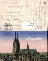 567388,Coeln Köln A. Rhein Dom Südseite V. Rathausturm Gesehen - Kirchen U. Kathedralen