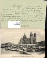 567395,Marseille Cathedrale Et Canal Saint-Jean Kanal Schiffe Boote Hafen - Kirchen U. Kathedralen