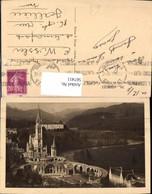 567411,Lourdes La Basilique Vue Du Chateau Fort P. D. Basilika Kirche - Kirchen U. Kathedralen
