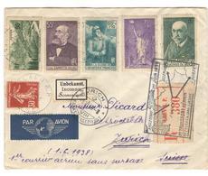 3479 - 1er Vol FRANCE SUISSE - Poste Aérienne
