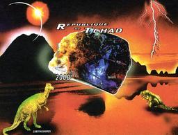 Tchad Chad 1996 IMPERFORATE Dinosaurs Prehistoric Animals - Postzegels