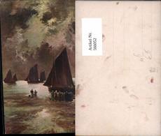 566052,Künstler Ak J. W. Gosqurd Schiffe Segelschiffe Frauen A. Strand - Segelboote