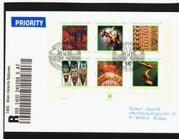KTM154 UNO WIEN 2003 RECO-BRIEF MICHL BLOCK 17 Siehe ABBILBUNG - Wien - Internationales Zentrum