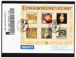 KTM157 UNO WIEN 2004 RECO-BRIEF MICHL (411/16) BLOCK 19 Siehe ABBILBUNG - Wien - Internationales Zentrum