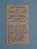 Communie Van JULIEN De SCHEPPER I/d Kerk Van MOERBEKE-WAAS Den 30 Mei 1943 ( Details - Zie Foto ) ! - Communion