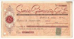 Receipt * Portugal * 1945 * Porto * Simão Guimarãis, Suc. Lda * Processo Fotomecânico * Holed - Portugal