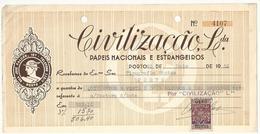 Receipt * Portugal * 1956 * Porto * Civilização, Lda * Holed - Portugal