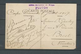 1917 CP Toulon Griffe Aviso Mouilleur De Mines PLUTON TB X3728 - Marcophilie (Lettres)