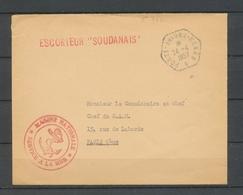 """1957 Env. En FM Cachet PORTE-AVIONS BEARN + Griffe ESCORTEUR """"SOUDANAIS"""" X3740 - Postmark Collection (Covers)"""