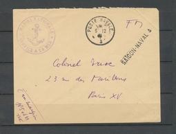 1946 Env. En FM Obl Poste-navale Griffe SAÏGON-NAVAL Superbe X3755 - Marcophilie (Lettres)
