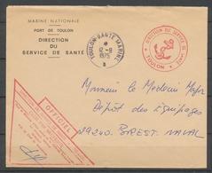 1975 Env. En FM Obl TOULON-SANTE MARINE Superbe X3771 - Postmark Collection (Covers)