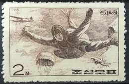 Korea North DPR 1966 MNH Skydiving Sports For National Defence With Gum - Korea, North