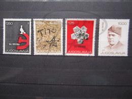 VEND BEAUX TIMBRES DE YOUGOSLAVIE N° 1212 - 1215 , XX !!! - 1945-1992 Socialist Federal Republic Of Yugoslavia