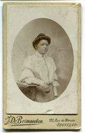 Photo Ancienne - Bruxelles - Femme - Photographie J. De Brémaecker (A1) - Anciennes (Av. 1900)