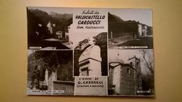 CARTOLINA POSTCARD NUOVA GIOSUE CARDUCCI VALDICASTELLO PIETRASANTA PANORAMA CHIESA CASA NATALE POETA BUSTO - Filosofia & Pensatori