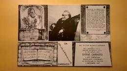 CARTOLINA POSTCARD NUOVA GIOSUE CARDUCCI VALDICASTELLO PIETRASANTA IL POETA CITAZIONI - Filosofia & Pensatori