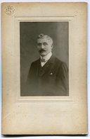 Photo Ancienne - Bruxelles - Homme - Moustache - Compagnie Belge -  (A4) - Anciennes (Av. 1900)
