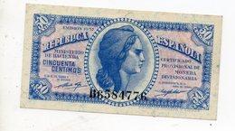 50 CENTIMOS 1937 - [ 1] …-1931 : Premiers Billets (Banco De España)