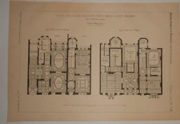 Plan D'Hôtels Particuliers, Boulevard Frère Orban à Liège. Belgique.M. Ch. Soubre, Architecte. 1890 - Public Works