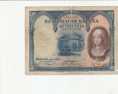 500 Pesetas 1927 - [ 1] …-1931 : First Banknotes (Banco De España)