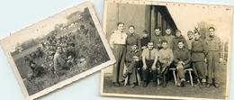 PRISONNIER FRANCAIS - GRAFFENSTADEN, STALAG V.B. OCT. 1940 - SINDELFINGEN MARS 1943 - DEUX PHOTOANCIENNES (9 X 12)&(9x6) - War 1939-45