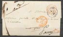 1846 Lettre En Franchise + CAD Paris Bureau Central Supplémentaire Rge. P5185 - Lettres Civiles En Franchise