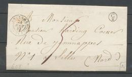 1847 Lettre CAD T15 Envermeu + BR C2 St Nicolas D'aliemont Seine INFre(74) X3673 - Storia Postale