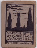 Tijdschrift  Litteratuur - Dietsche Warande & Belfort - Antwerpen 1920 N° 8 & 9 - Non Classés