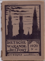 Tijdschrift  Litteratuur - Dietsche Warande & Belfort - Antwerpen 1920 N° 10 - Livres, BD, Revues