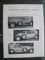 PUBBLICITA'/PUBLICITE' CARROSSERIE,HIBBARD &DARRIN,HENRI LABOURDETTE,da Rivista AUTO CARRROSSERIE 1927 - Cars
