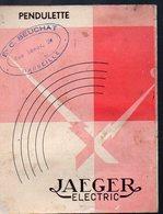 (horlogerie) Dépliant PENDULETTE JAEGER  (PPP13319) - Publicités