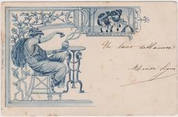 Stile Liberty - F.p. -  Fine Anni '1890 - Ante 1900