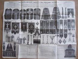 Folder Dépliant 1909 Pub Billaux-Grosse Bruxelles Chasubles Dalmatique Chapes Huile De Colze Kazuifels Produits église - Reclame