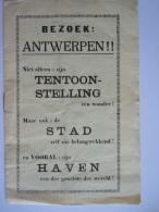 Folder 1935 Bezoek Antwerpen Niet Alleen De Tentoonstelling Maar Ook De Stad En Haven 8 Pag. - Tourism Brochures